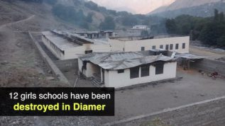 12 girls schools have been destroyed in Diamer
