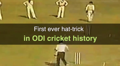 First ever hat-trick in ODI cricket history