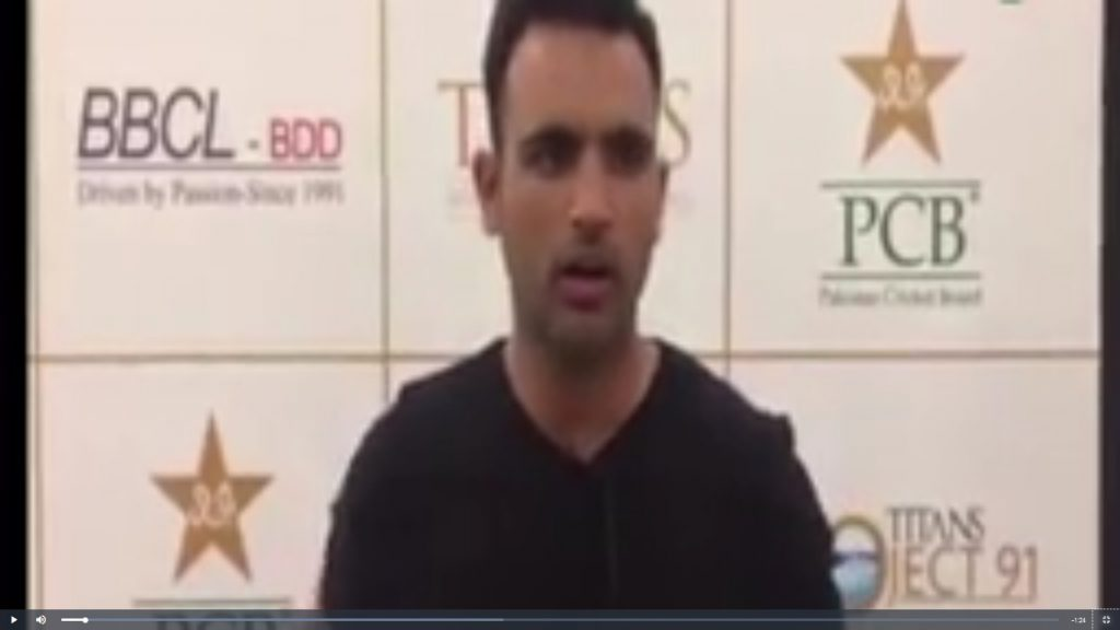 Fakhar announced to dedicate his Award to APS victims