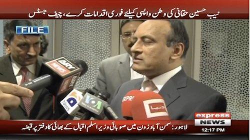 Memogate case: SC directs NAB to fetch Hussain Haqqani