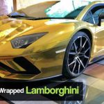 First 18K Gold Foil Wrapped Lamborghini arrives in PAK