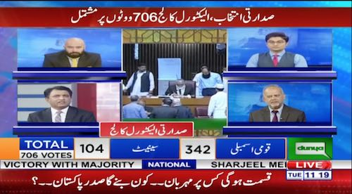 Special transmission for presidential elections 1