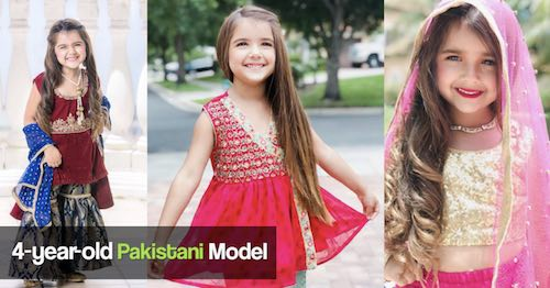 Miah Dhanani is a 4 year old Pakistani American model