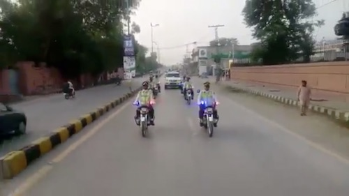 Defence Day: Flag March held by KP Police in Mardan