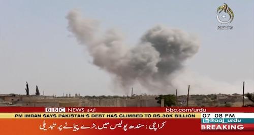 Russian' planes bomb targets in Idlib province