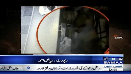 CCTV footage of robbery in Lahore's general store