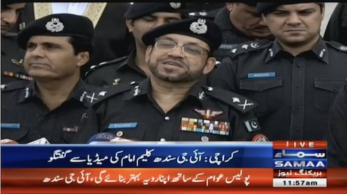 Dr Kaleem Imam takes charge as New Sindh IG
