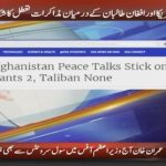 Afghanistan Peace Talks Stick on Bases: US Wants 2, Taliban None