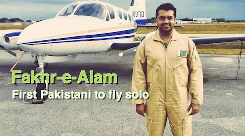 Fakhr-e-Alam hopes to become first Pakistani to make history with solo flight