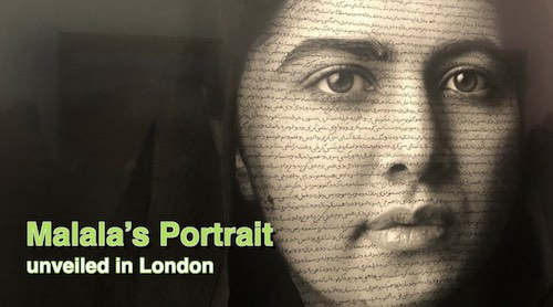 Malala's Portrait unveiled at London's National Portrait Gallery