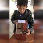 One of the student of 8th standard made an Atm out of cardboard