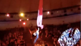 A shocking video, showing an aerialist fall during a circus performance in the Russian city of Novokuznetsk