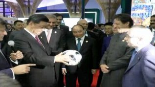Chinese & Russian president visited Expo center with PM Imran Khan