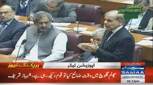 Shehbaz urges govt, opposition to refrain from using foul language