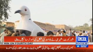 A man from Shorkot makes a dove shaped motorcycle