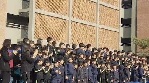PSL sung by these school kids will melt your heart