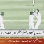 Pakistan collapses at 348 runs in first innings, 74 runs lead