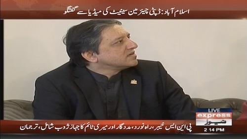 Deputy Chairman of the Senate talks to the media