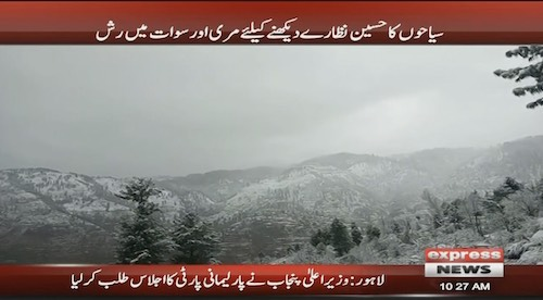 Tourists visit Murree and Sawat