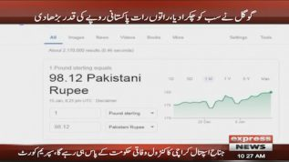 Google went bonkers as it strengthened the Pakistani currency