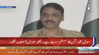 General Asif Ghafoor says that civil court are lazy