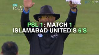 PSL 1: Islamabad United's 6's in first match