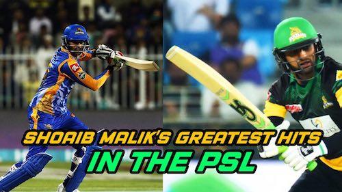 Shoaib Malik's Greatest Hits In The PSL