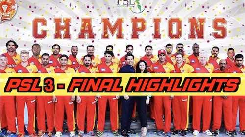 Pakistan Super League Season 3 Final: A throwback