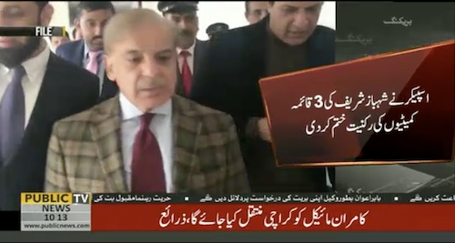 Shehbaz Sharif has been removed from 3 committees