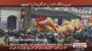 The Dragon dances despite rain