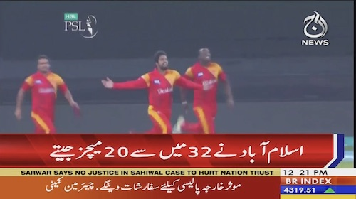 PSL Islamabad United has won 20 out of 32 matches