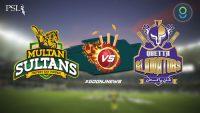 Quetta Gladiators win against Multan Sultans by 8 wickets