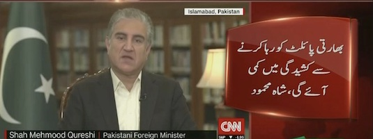 Freeing IAF pilot will improve conditions between India and Pak: Shah Mehmood Qureshi