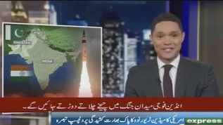 Trevor Noah sketches a funny picture of Pak-Ind war