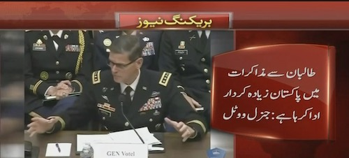 Taliban ready to negotiate due to Pakistan: General Votel