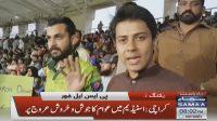 PSL fans at Karachi stadium are ecstatic