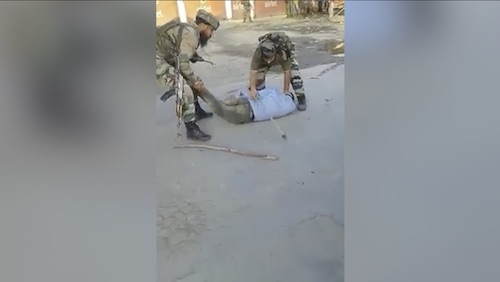 Indian army brutality at its peak