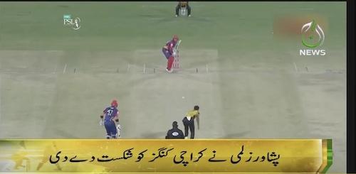 Karachi Kings defeated by Peshawar Zalmi