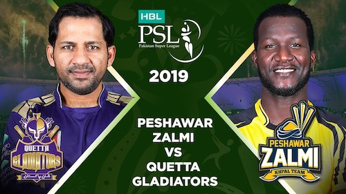 Peshawar Zalmi vs Quetta Gladiators semi final today: PSL 2019