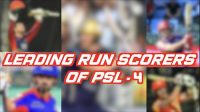 Highest scorers of Pakistan Super League 4