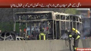 School bus hijacked in Italy, Milan