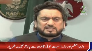 No one is above the law, says Shehryar Afridi