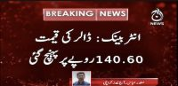 Dollar reaches Rs. 140.60 in interbank