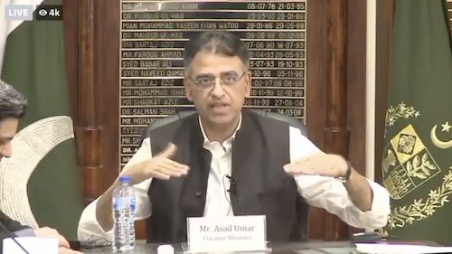 Asad Umar is going viral for his logic...