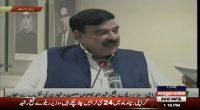 Sheikh Rasheed talks to the media