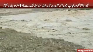 Several dead and injured after storms, rains and flood in KP & Punjab