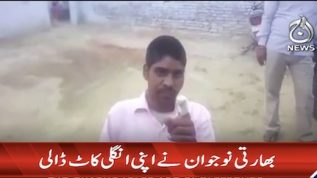 Indian citizen chops his finger over a wrong vote
