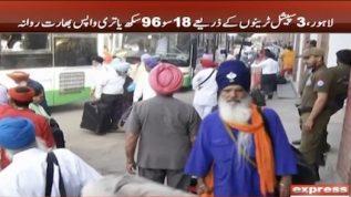 Sikh festival goers return to India