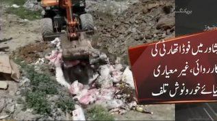 KP food authority destroys unhygienic food items