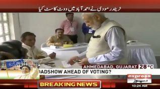 Modi casts vote in Ahmedabad